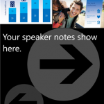 Folienansicht mit Sprechernotizen