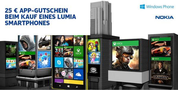 25 Euro App Gutschein beim Kauf eines Nokia Lumia Smartphone