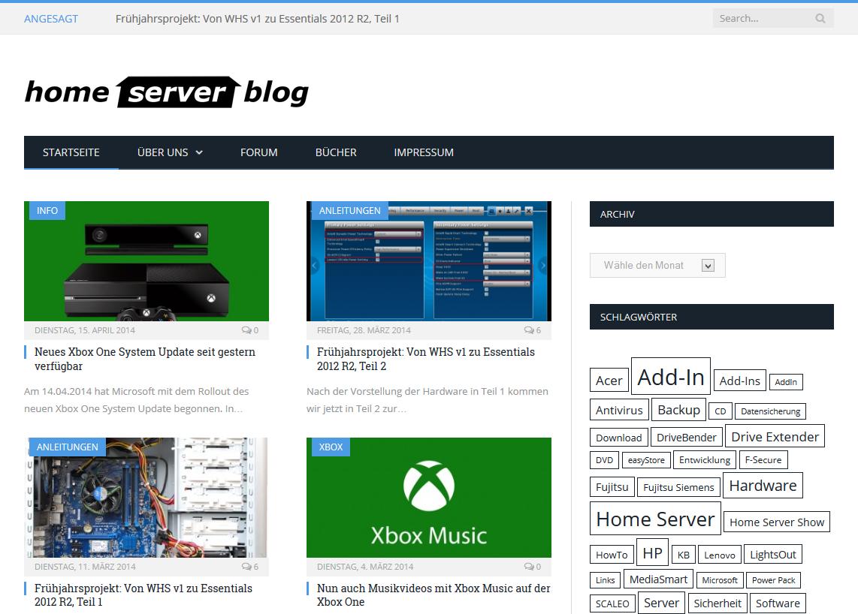 neues design f 252 r den home server blog